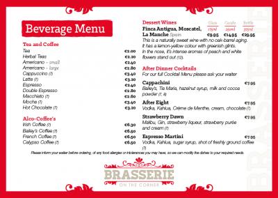 Brasserie A La Carte Evening Menu - March 2019 - PG 05